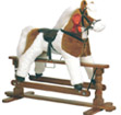 skewbald soft swing rocking horse