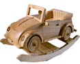 wooden rocking car kids toys