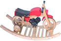 wooden rocking motorbike combi trainer