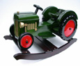 rocking wooden tractor for kids