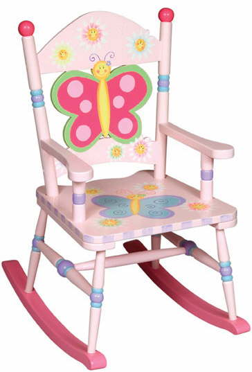 Kids Wooden Rocking Chair And Baby Furniture