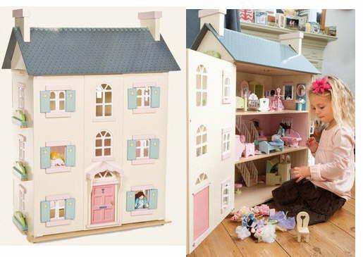 wooden dolls houses traditional lavender and baytree. Black Bedroom Furniture Sets. Home Design Ideas