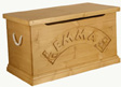 personalised wooden toy chest