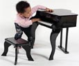children's piano set made from wood