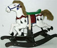 carousel wooden rocking horses